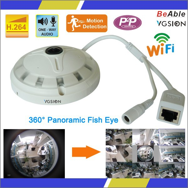 alibaba vgsion manufacturer indoor 720p wifi Panoramic 360 web camera in stock for sale