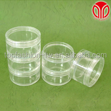 3-Stacked Pharmaceutical cosmetic Multipurpose plastic clear storage jar case