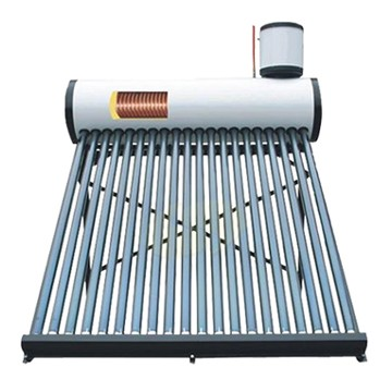High Quality Color Steel Heat Pipe Pressurized Solar Water Heater with Solar Keymark Certificate