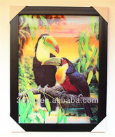 wholesale of 3d pictures black woodpecker 3d lenticular photo frame