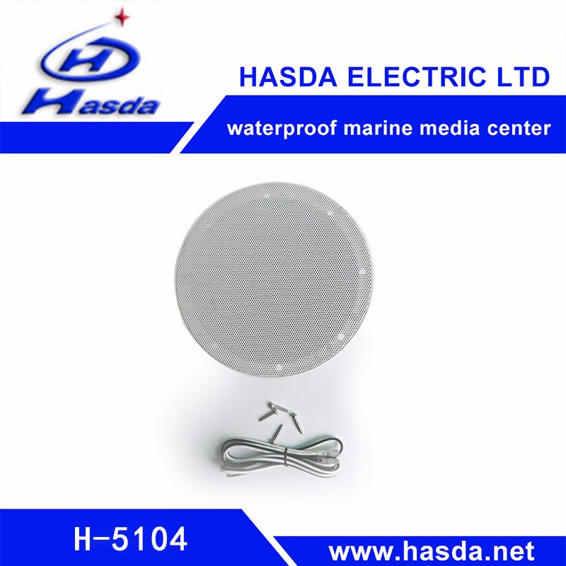 "HASDA 4"" inch waterproof marine sound box speaker for sauna spa shower room bathroom swimming pool yacht FM AM"
