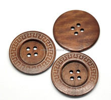 "10PCs Coffee 4 Holes Big Wood Sewing Buttons for Outerwear Sweater Overcoat Clothing 6cm(2-3/8"")Dia.,Customize"