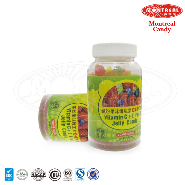 Sweet fruity gummy candy bottle toy candy