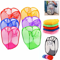 Foldable Pop up Plastic Daily Using Colorful Laundry Hampers Bag