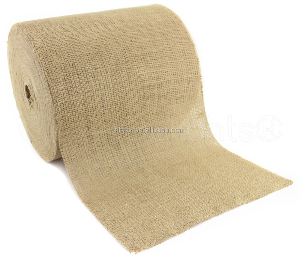 12 inch by 10 yard Natural wholesale burlap rolls jute ribbon 100% natural pure burlap tape rolls for table runner