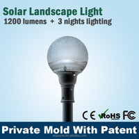 portable e40 solar garden light with CE certificate