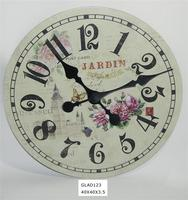 hand carved sun shaped wall clock with low price