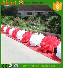 customized promotion pvc 15m red inflatable rose flower for graduation