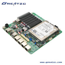 ZC-BT194L Fanless J1900 MINI ITX 4 LAN Mainboard, Quad-Core Industrial Mini Itx Motherboard With 2 SATA Slots