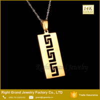Wholesale 316L Surgical Steel Handmade Pendant Jewelry Accessory Saudi Gold Jewelry Custom Logo Pendant