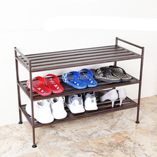 Vertical space saving coated steel assembled shoe storage rack