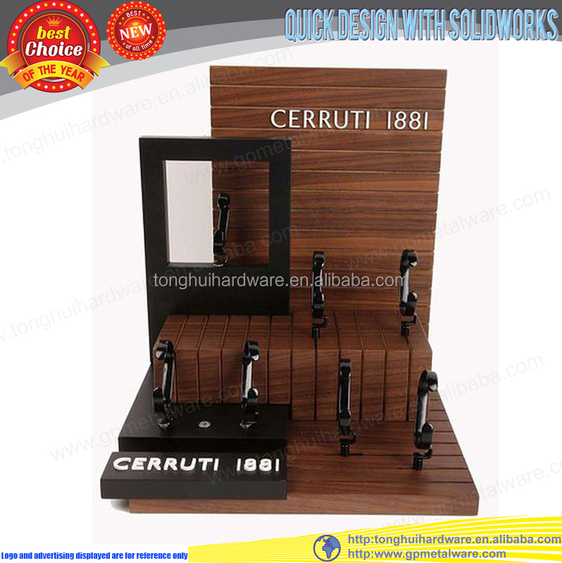 Double side wooden watch display stand