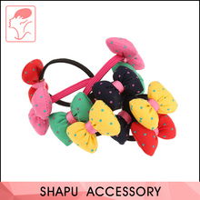 Cotton bowknot fancy elastic hair bands hair accessories rubber rope