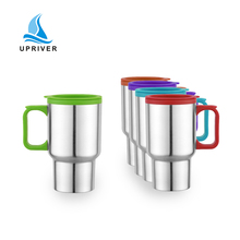 New 201 new stainless steel travel cup 14oz portable outdoor sports insulated cup.