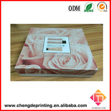 Accept custom order flat folding gift box/ comestic paper packing box for facial cream