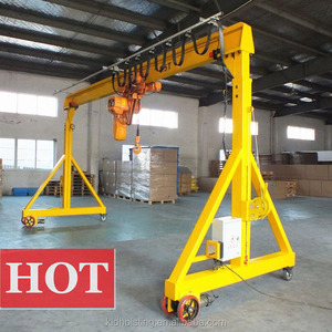 China Manufacturer Mini Small Electric Motors Casting Yard Used Rubber tyred Gantry Crane For Sale