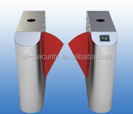 Automatic flap barrier gate,optical turnstile access control for bank entrance