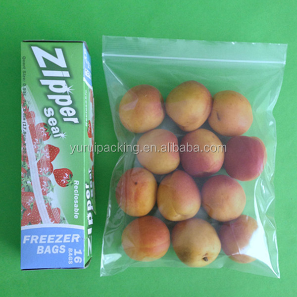 Hot product quart size freezer zipper resealable bag