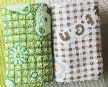 Promotional gift Letter/bear/plaid towel in hairdress