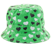 Top quality green bucket children kids hat sun hat
