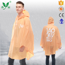 New Products Safety Item Folding Logo Print Disposable Rain Poncho