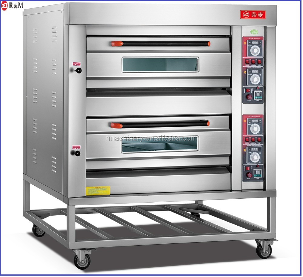 Automatic Industrial Kitchen Equipment 4/6/9 Trays Gas Pizza Oven ...