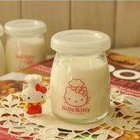 Wholesale hot sale clear yogurt glass jar with lids