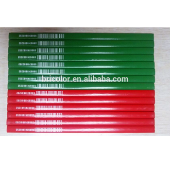 Green and Red color Barrel Wooden Carpenter Pencil