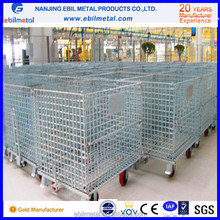 Warehouse storage galvanized wire mesh containers/Wire mesh cages, from China