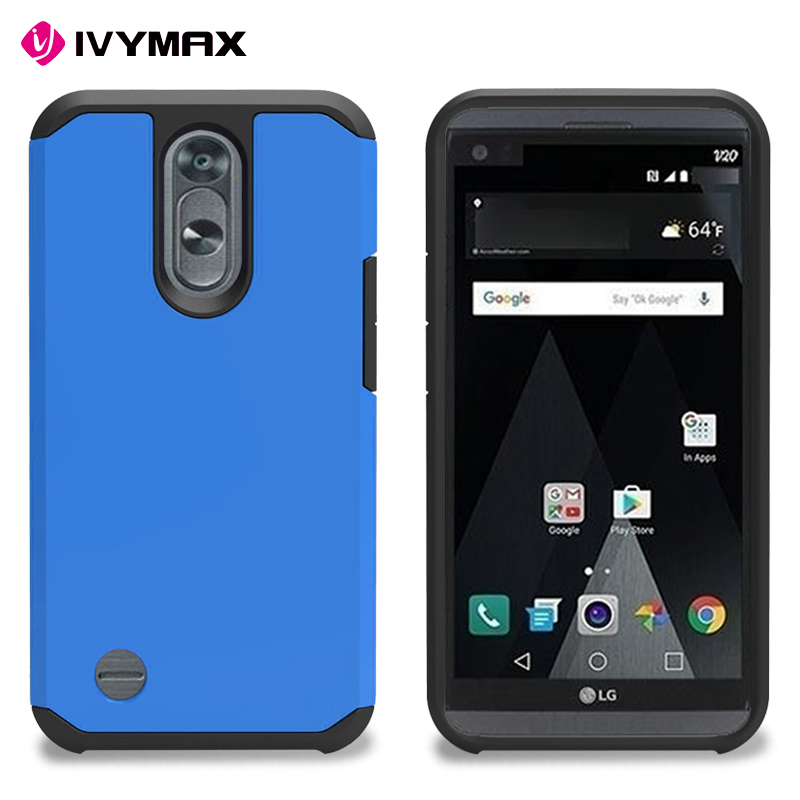 Hybrid Heavy Duty Armor Cover Double Layer Silicone and Durable PC Hard Back Shell For LG K10 2017
