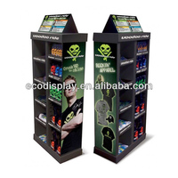 Sport shopping mall cool black cardboard floor display for sporting goods
