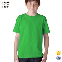 Customize service kids tshirts factory plain blank kids t shirt wholesale with custom printing