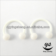 Cheap white acrylic attractive design nose ring bull nose ring fake nose ring
