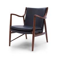 finn juhl model 45 lounge chair solid wood antique designer furniture Replica High end Lounge furniture Manufacturer in China