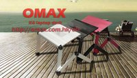 Adjustable Vented Laptop Table Laptop Computer Desk Portable Bed Tray Book Stand Multifuctional & Ergonomics Design Dual Layer T
