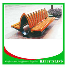 attractive design park bench Chinese manufacturer street wooden slats long bench