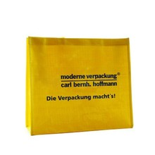 Eco-friendly cheap promotional shopping yellow non woven bag