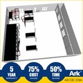 Ark Top Quality Good Price Long Lifespan Flatpack Prefabricated Steel Oil Field Warehouse
