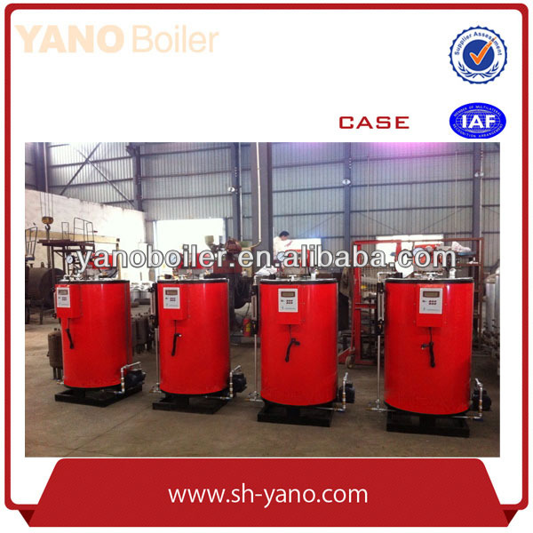 Water Tube Structure 100-500KG/HR Vertical Oil/Gas fired Steam Boiler