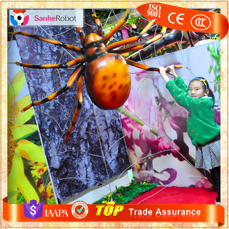 Children's favor resin Animated Life Size frp glass spider insect