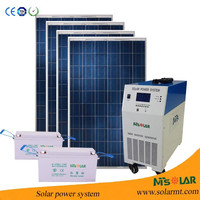 3KW mini home solar generators prices electricity solar generation system for rural areas,school