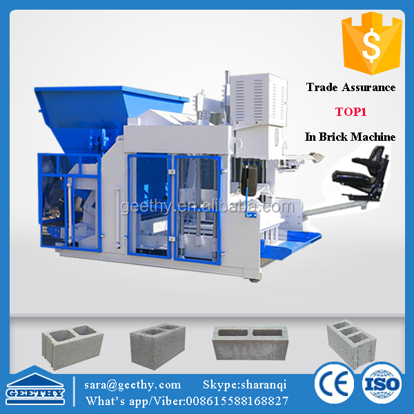QMY10-15 cement brick making machine south africa / concrete block factory on site