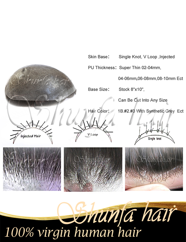 Men's toupee,human hair toupee for men,cheap toupee for men