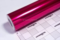 Car Wrapping Sticker Pink Chrome Vinyl Film/Pink Chrome Vinyl With Best Price
