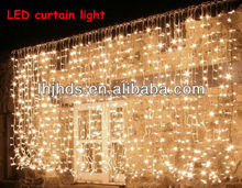 3x2M 1160L led curtain light of warm white color