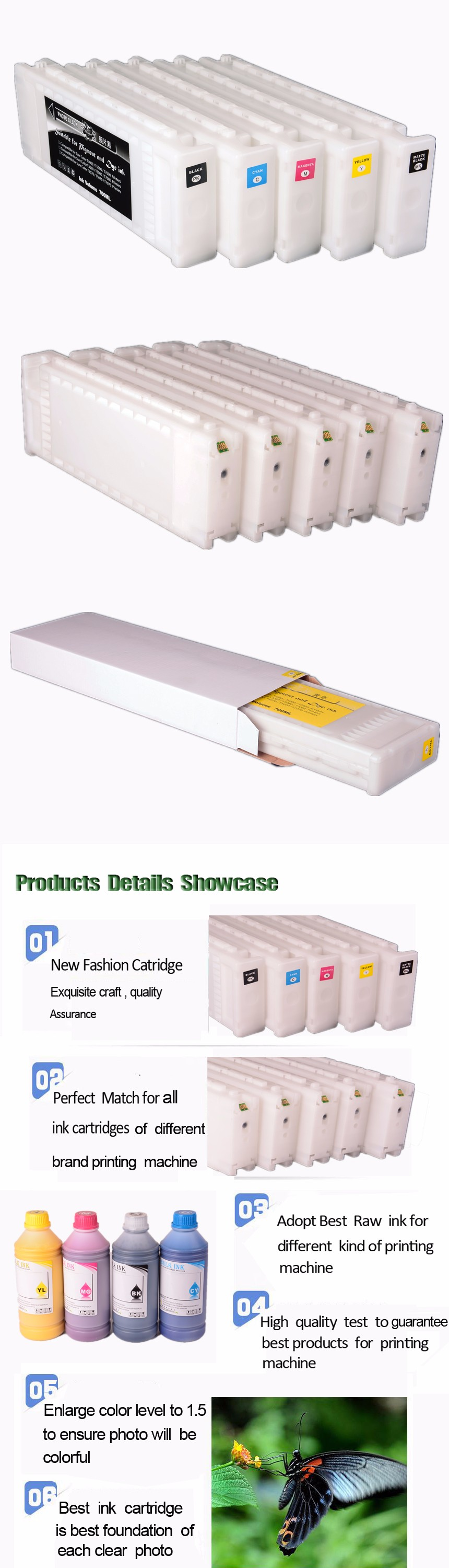 High Quality Compatible Ink Cartridge For Epson T3000 T5000 T7000 T3200 Printer Ink Cartridge