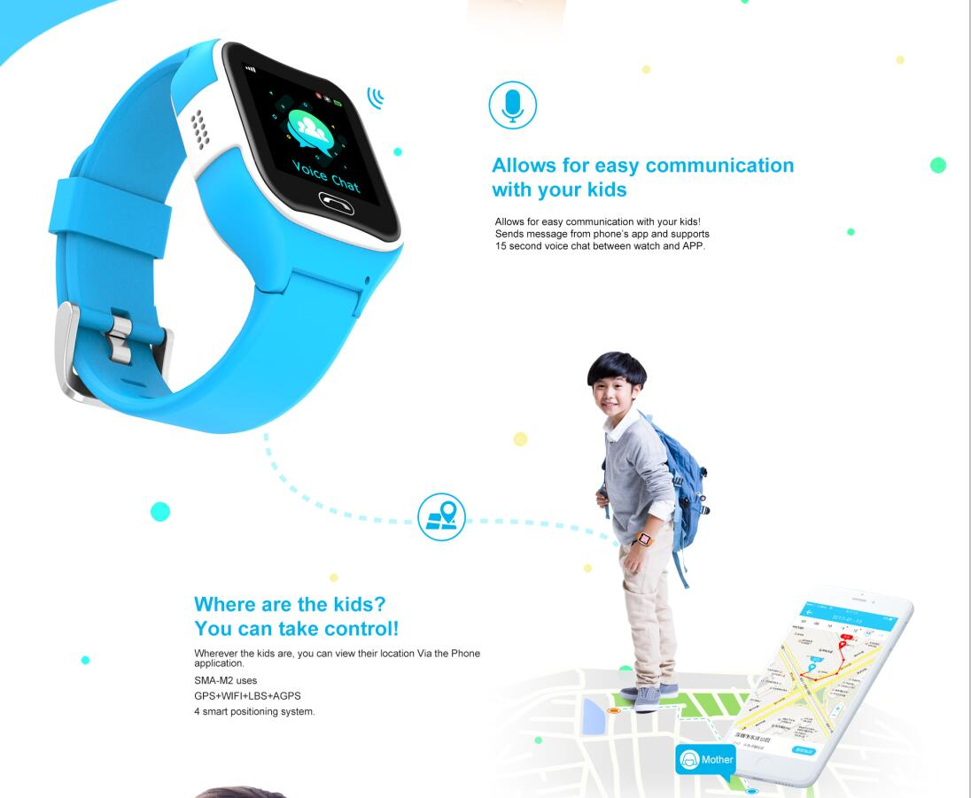 kids smart watch, wifi/gps location, kids gps smart watch
