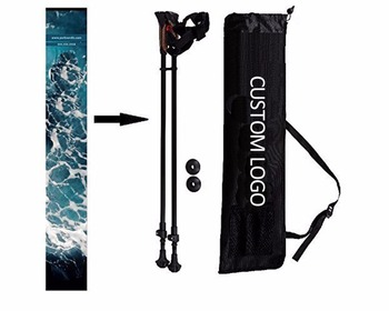 6061 Aluminum 3 Sections Ultralight Collapsible Nordic Telescopic Walking Hiking Trekking Stick Poles