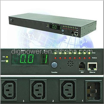 8 ports 208V 30 amp IP PDU- Per Outlet Monitored/Switched POM