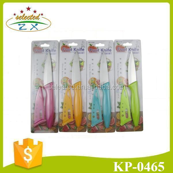 Colorful PP handle paring knife with knife sheath